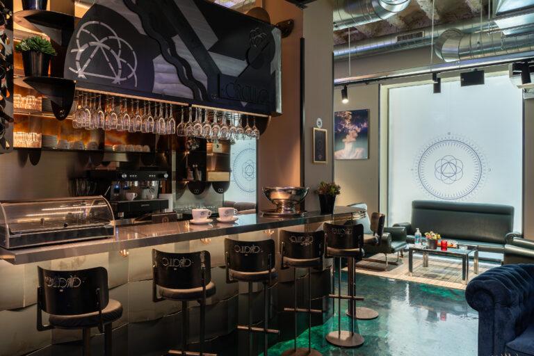 Bar counter in the Born Marijuana Club