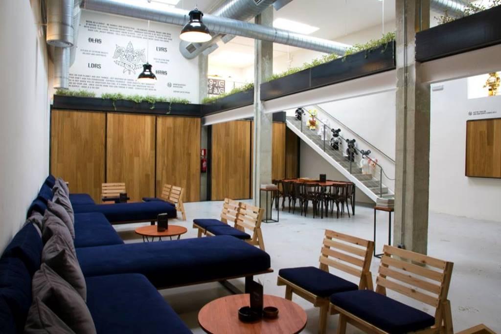 interior of the HQ cannabis club in barcelona